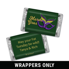 Personalized Mini Wrappers Only - Mardi Gras Masquerade