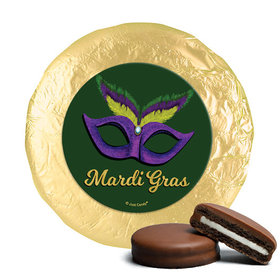 Mardi Gras Masquerade Milk Chocolate Covered Oreos (24 Pack)