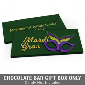 Deluxe Personalized Masquerade Mardi Gras Candy Bar Cover