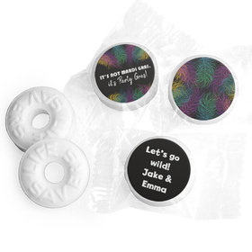 Personalized Life Savers Mints - Mardi Gras Party Feathers
