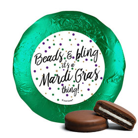 Mardi Gras Beads & Bling Milk Chocolate Covered Oreos (24 Pack)