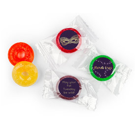 Personalized Life Savers 5 Flavor Hard Candy - Mardi Gras Golden Elegance