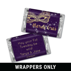 Personalized Mini Wrappers Only - Mardi Gras Golden Elegance