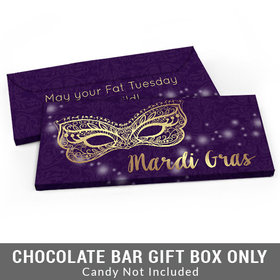 Deluxe Personalized Golden Elegance Mardi Gras Candy Bar Cover