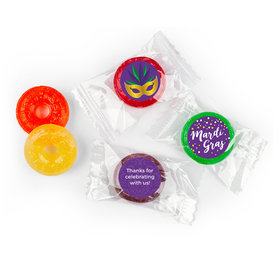 Personalized Life Savers 5 Flavor Hard Candy - Mardi Gras Big Easy