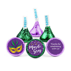 Personalized Hershey's Kisses - Mardi Gras Big Easy (50 Pack)