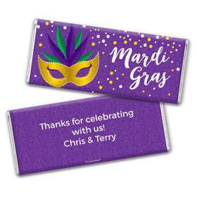 Personalized Chocolate Bar & Wrapper - Mardi Gras Big Easy