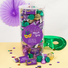 Personalized Mardi Gras Big Easy Canister 2 lb