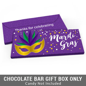 Deluxe Personalized Big Easy Mardi Gras Candy Bar Cover