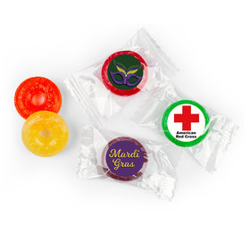 Personalized Life Savers 5 Flavor Hard Candy - Mardi Gras Add Your Logo