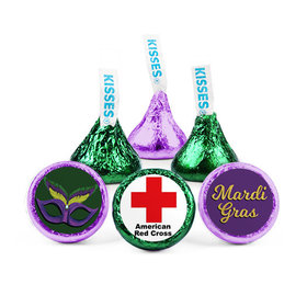 Personalized Hershey's Kisses - Mardi Gras Add Your Logo (50 Pack)