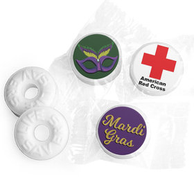 Personalized Life Savers Mints - Mardi Gras Add Your Logo