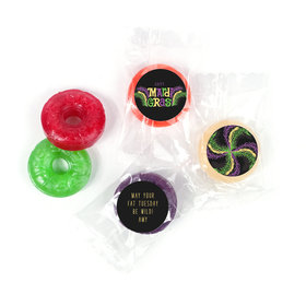 Personalized Life Savers 5 Flavor Hard Candy - Mardi Gras Party Gras