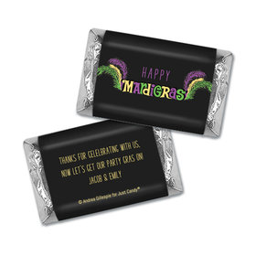 Personalized Mardi Gras Party Gras Hershey's Miniatures