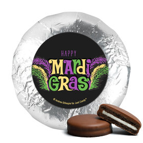 "Mardi Gras Party Gras 1.25"" Stickers (48 Stickers)"