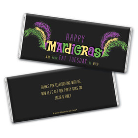 Personalized Mardi Gras Party Gras Hershey's Chocolate Bar Wrappers