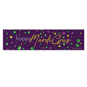 Mardi Gras Beads and Bling Banner