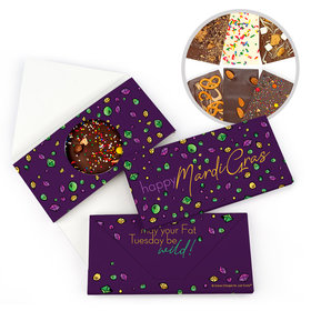 Mardi Gras Beads & Bling Gourmet Infused Belgian Chocolate Bars (3.5oz)