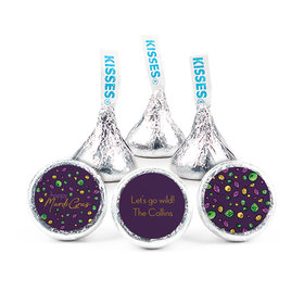 """Personalized 3/4"""" Stickers - Mardi Gras Beads & Bling (108 Stickers)"""