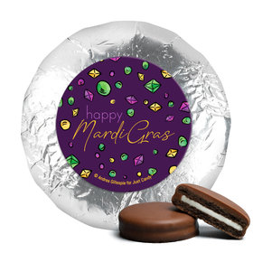 "Mardi Gras Beads & Bling 1.25"" Stickers (48 Stickers)"