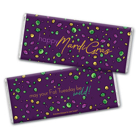 Mardi Gras Beads & Bling Hershey's Chocolate Bar & Wrapper