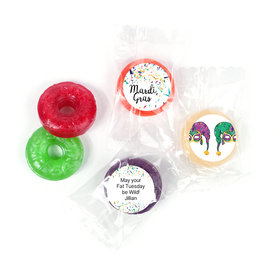 Personalized Life Savers 5 Flavor Hard Candy - Mardi Gras Jammin' Jester Hats