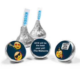 Personalized Hershey's Kisses - New Year's Eve Emoji (50 Pack)