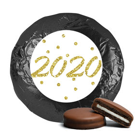 New Year's Eve Dots Milk Chocolate Covered Oreo Cookies with Gold Foil (24 Pack)