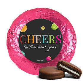 Personalized Milk Chocolate Covered Oreos - New Year's Eve Cheers (24 Pack)
