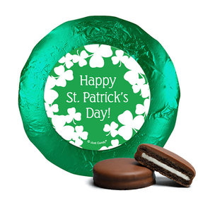 St. Patrick's Day White Clovers Milk Chocolate Covered Oreos