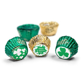 St. Patrick's Day White Clovers Reese's Peanut Butter Cups (50 Pack)