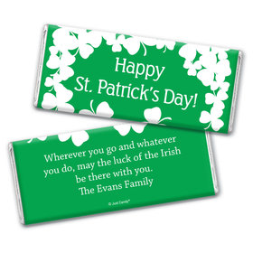 Luck of the IrishSt. Patrick's Day Favors Personalized Candy Bar - Wrapper Only