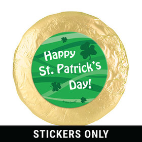 "St. Patrick's Day Clover Swirls 1.25"" Stickers (48 Stickers)"