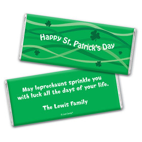 Clover Streams St. Patrick's Day Favors Personalized Candy Bar - Wrapper Only