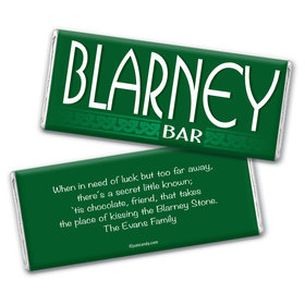 Blarney Bar St. Patrick's Day Favors Personalized Candy Bar - Wrapper Only