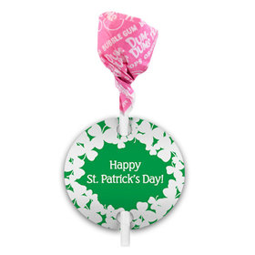 St. Patricks Day Clovers Dum Dums with Gift Tag (75 pops)