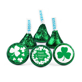 Personalized St. Patrick's Day White Clover Hershey's Kisses (50 pack)