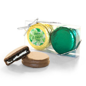 St. Patricks Day Watercolor 2Pk Chocolate Covered Oreo Cookies
