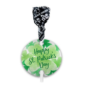 St. Patricks Day Watercolor Dum Dums with Gift Tag (75 pops)