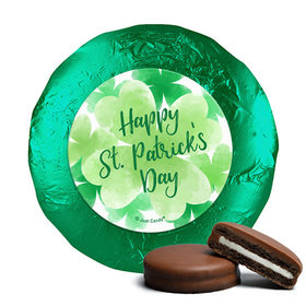 St. Patrick's Day Watercolor Clovers Milk Chocolate Covered Oreos