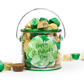 St. Patrick's Day Watercolor Reese's Filled Green Paint Can