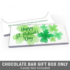 Deluxe Personalized Watercolor Clover St. Patrick's Day Candy Bar Cover