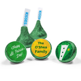 Personalized St. Patrick's Day Tux Hershey's Kisses (50 Pack)