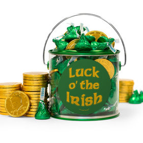 St. Patrick's Day Luck Hershey's Kisses & Gold Coins Filled Green Paint Can