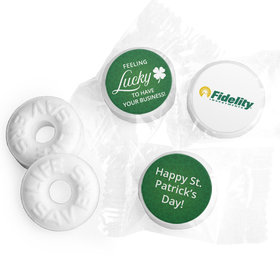 Personalized Life Savers Mints - St. Patrick's Day Feeling Lucky Add Your Logo