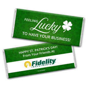 Personalized St. Patrick's Day Feeling Lucky Add Your Logo Chocolate Bar & Wrapper