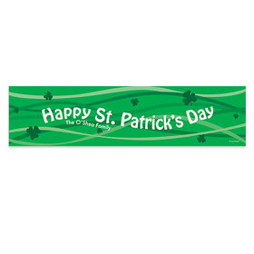 Personalized Clover Streams St. Patrick's Day Banner