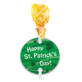 St. Patricks Day Ribbons Dum Dums with Gift Tag (75 pops)