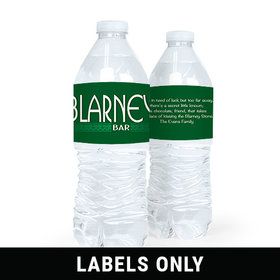 Personalized St. Patrick's Day Blarney Water Bottle Sticker Labels (5 Labels)