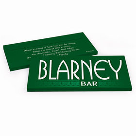 Deluxe Personalized Blarney Bar St. Patrick's Day Chocolate Bar in Gift Box